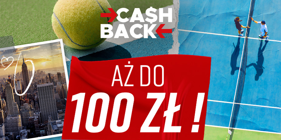 Cashback do 100 PLN na US Open #Betclic