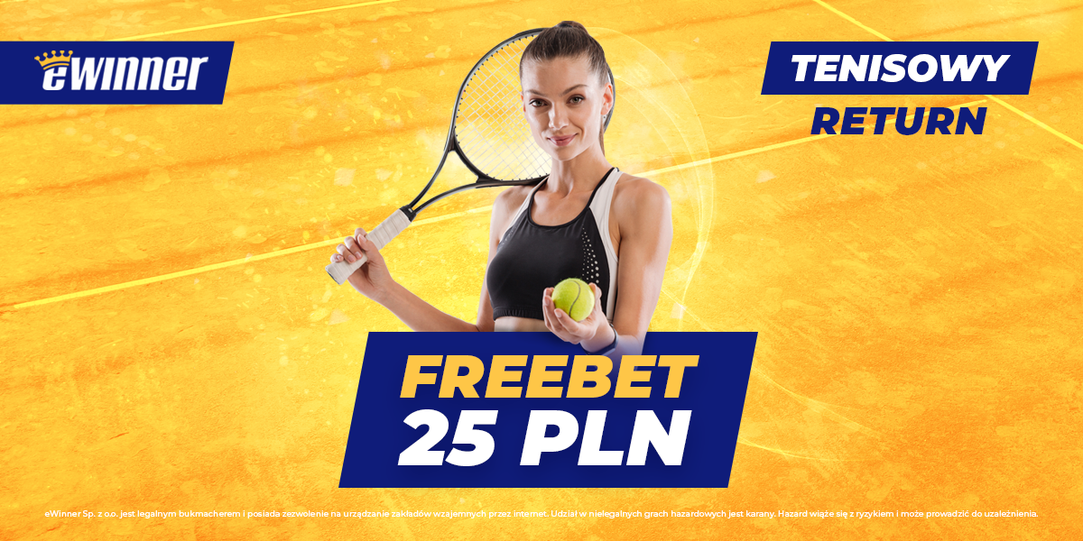 Freebet 25 PLN – tenisowy return na US Open #eWinner