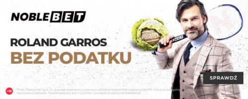Roland Garros bez podatku w Noblebet!