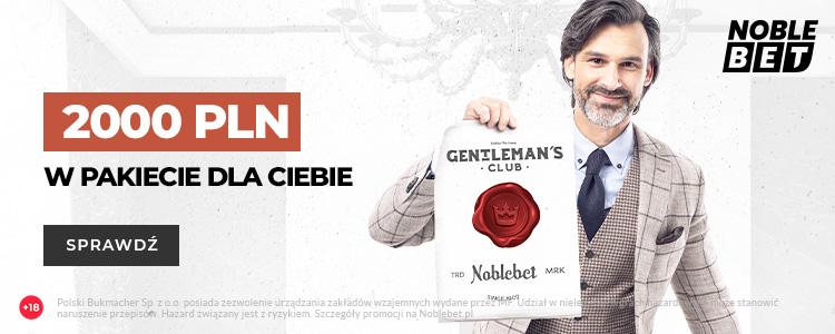 Nowy pakiet powitalny o wartości 2000 PLN od Noblebet!