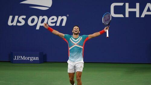 Borna Corić obronił sześć piłek meczowych. Tsitsipas za burtą US Open